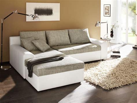 sofa eck ecksofa 250x193cm grau weiß sofa schlafsofa polsterecke eckcouch ebay
