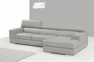 Canape Angle Cuir Gris : canap d 39 angle en cuir italien 5 places perle gris clair mobilier priv ~ Teatrodelosmanantiales.com Idées de Décoration