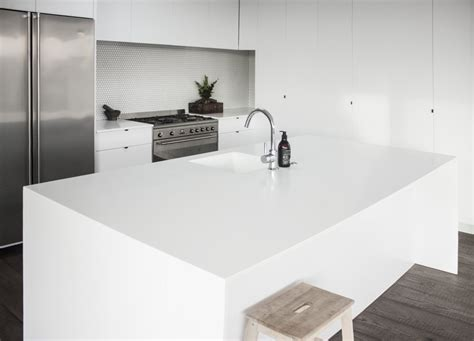 corian solid surface glacier white corian solid surface enhances family kitchen