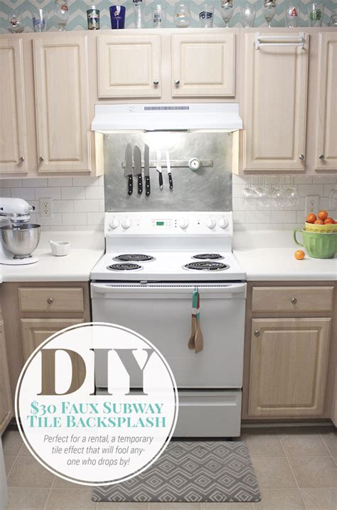 painting kitchen tile backsplash 30 faux subway tile painted backsplash tutorial