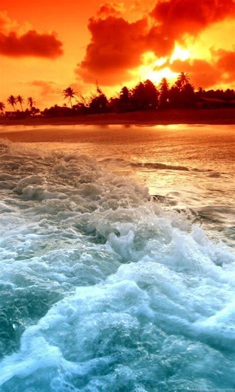 tropical beach sunset hd desktop wallpapers high
