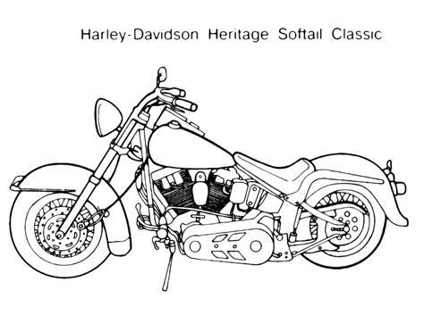 moto harley davidson heritage disegno da colorare