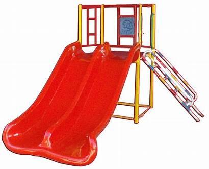 Equipment Playground Slide Double Children Play Brochure