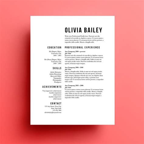 25 best ideas about resume design on layout