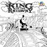 Thomas Engine Steam Coloring Train Tank Pages Drawing King Railway Royal Printable Representations Children Exquisite Wooded Surroundings Area sketch template