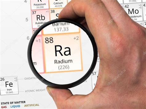 Ra. Element Of The Periodic Table Zoomed
