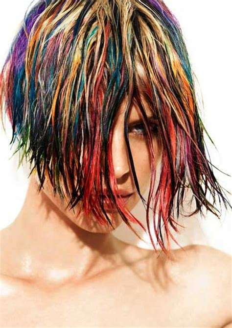 multi color hair styles haircut and color ideas hairstyles 2017