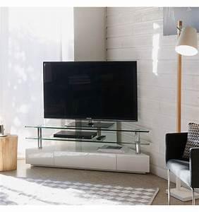 Meuble Angle Tv : blu ray meuble tv angle 1 tiroir les authentiques ~ Teatrodelosmanantiales.com Idées de Décoration