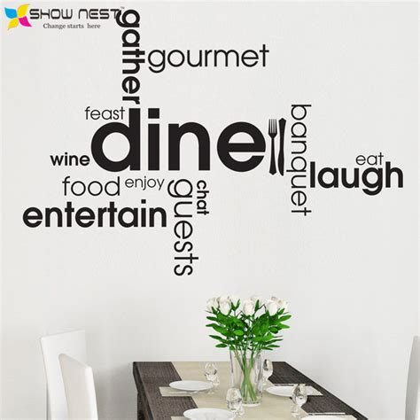 stickers phrase cuisine kitchen dining word quotes wall decals montage style wall