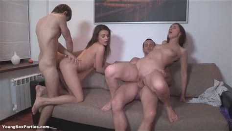 Brunette Teens With Perfect Bodies Fuck In Group Porn