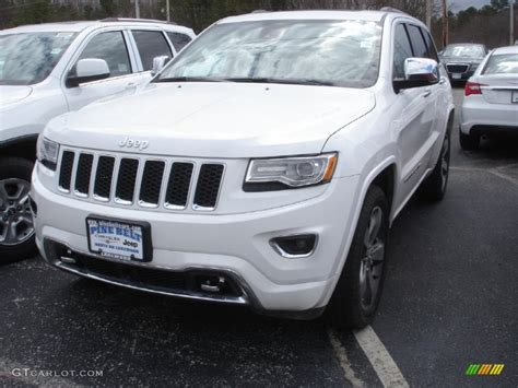 jeep cherokee white 2014 bright white jeep grand cherokee overland 4x4