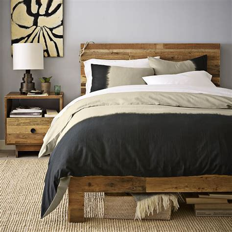 emmerson 174 reclaimed wood bed natural west elm