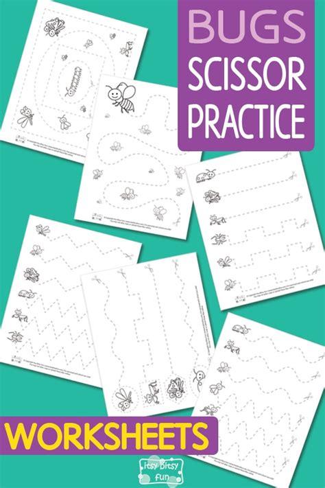 bugs scissor practice worksheets itsybitsyfuncom