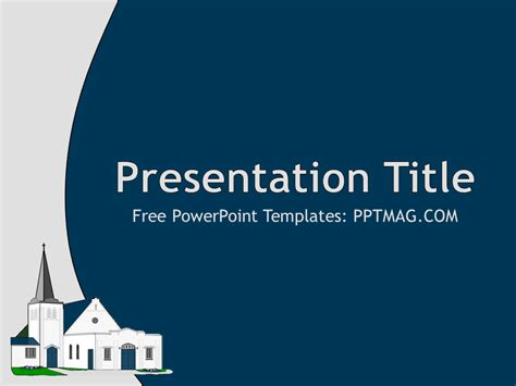 church powerpoint template pptmag