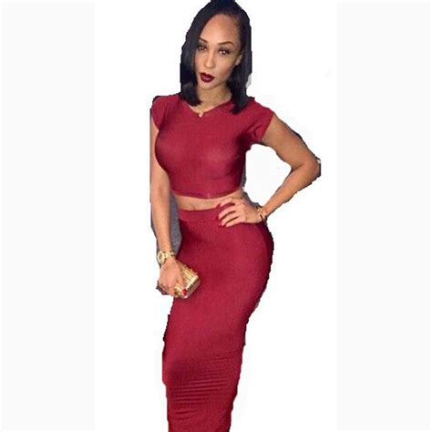 piece red bandage bodycon dress celebrity club party