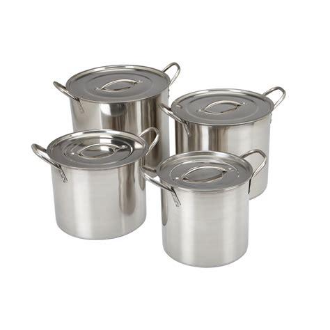 pc stainless steel stock pot set