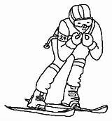 Coloring Pages Skiing Skier Clipart Colouring Supplies Clip Template Printable Slalom Clipground 20coloring 20pages 20supplies Winter Sports Snow Theclipartwizard sketch template