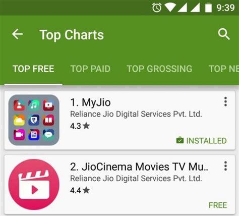Myjio App Is #1 App On Google Play Store In India, 8 Jio