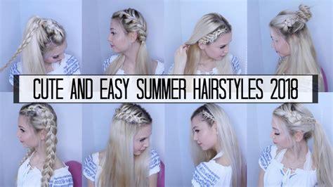cute easy summer hairstyles  romina gafur youtube