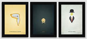 Minimalist Version of famous paintings on Behance