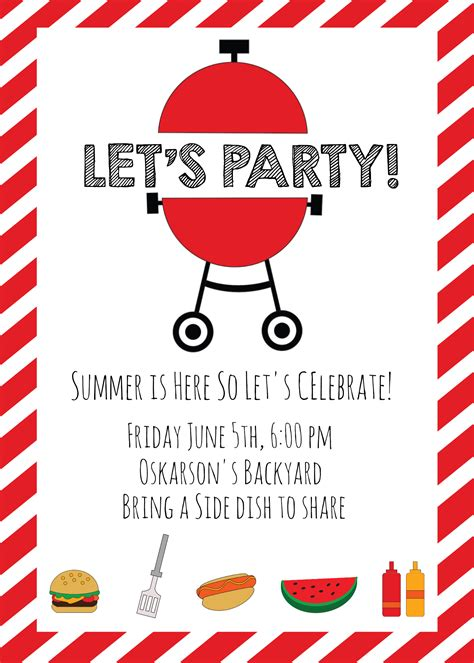 summer bbq invitations  ideas