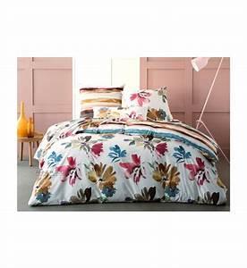 Housse de couette aquarelle anne de solene multicolore for Robe de chambre enfant avec housse de couette 240x260 galeries lafayette