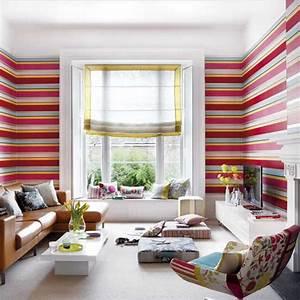Sch ner wohnen tapeten wohnzimmer streifen muster for Schöner wohnen tapeten wohnzimmer