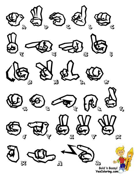 free printable sign language alphabet printable sign