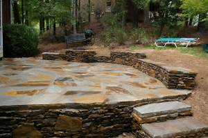 Image of: Stone Patio Fire Pit Stone Patio Designs As Happiness Resources