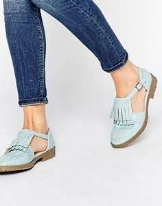 Schuhe Mit Fransen : asos asos macey flache schuhe mit fransen und t steg ~ Frokenaadalensverden.com Haus und Dekorationen