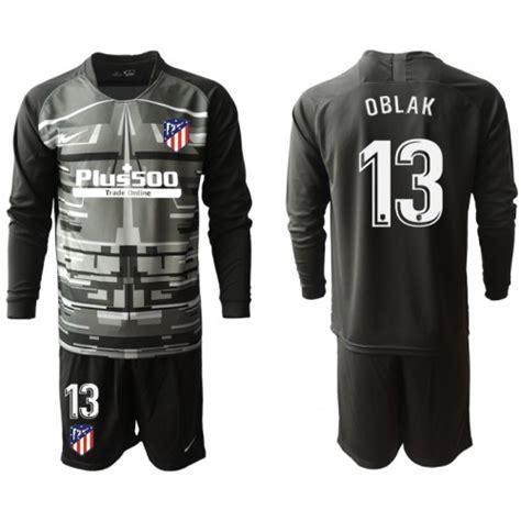 Camiseta de fútbol Atlético Madrid Portero OBLAK 13 Niños ...