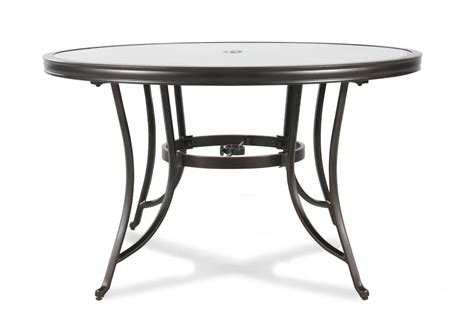 glass top patio table stained glass top aluminum patio table in black mathis