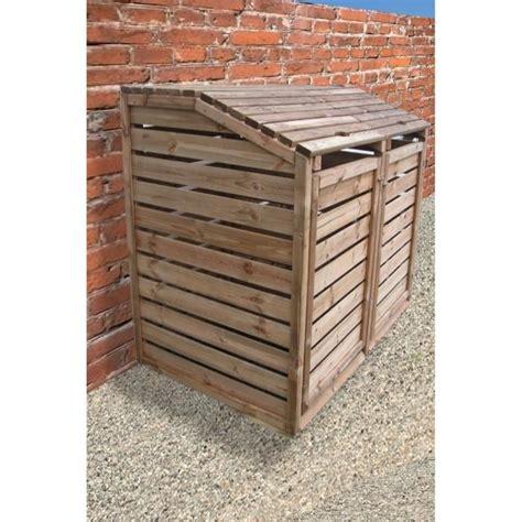 poubelle en bois cuisine cache poubelle en bois autoclavé 150x90x120cm