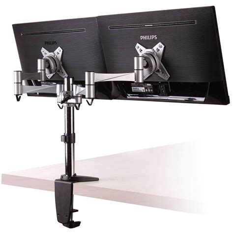 brateck cpu holder desk mount brateck aluminium dual lcd monitor table stand w
