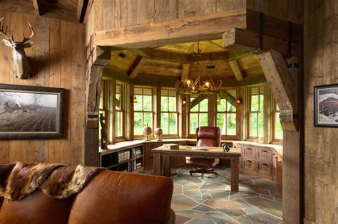 Highcroft Hunting Barn  Rustic  Home Office. Area Rug For Living Room. Decorative Bathroom Signs. Cheap House Decorating Ideas. How To Decorate Kitchen Counter Space. Scroll Wall Decor. Glass Wall Decor. Room Dividers Amazon. Interior Designs For Kitchen And Living Room