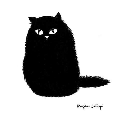 black cat  marjane satrapi draw pinterest black