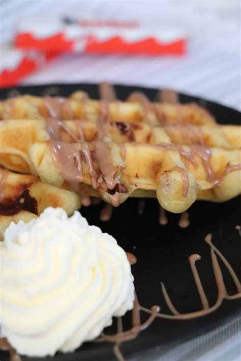 rezept belgische waffeln mit kinderschokolade lavendelblog