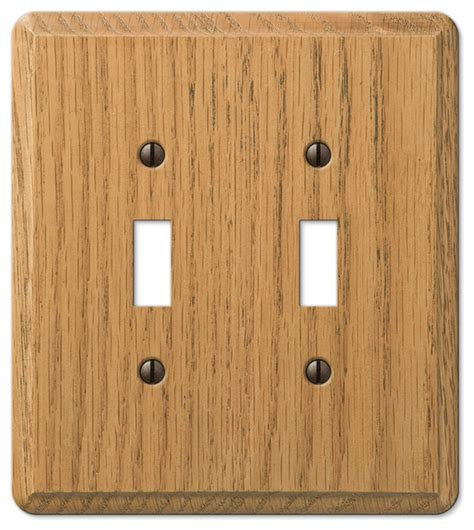 oak outlet covers amerelle contemporary oak wood 2 toggle wall plate reviews houzz