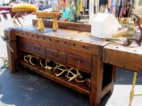 antique workbench workbench  sale woodworking bench