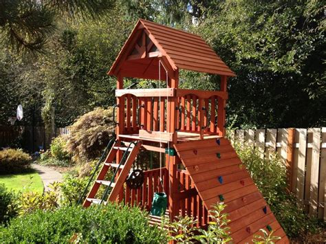 Backyard Play Structure by Play Structure In Small Yard Play Structures