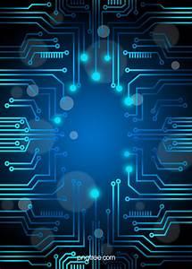 Vector Blue Technology Background Circuit Diagram  Blue