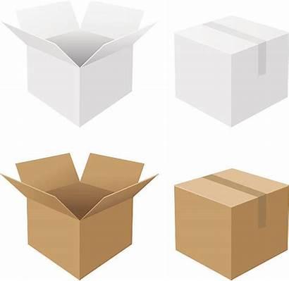 Cardboard Box Vector Illustrations Clip Boxes Illustration