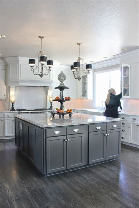 gray kitchen cabinets with hardwood floors 30 practical and cool looking kitchen flooring ideas