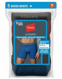 Hanes Men Tagless Ultimate Fashion Boxer Briefs With