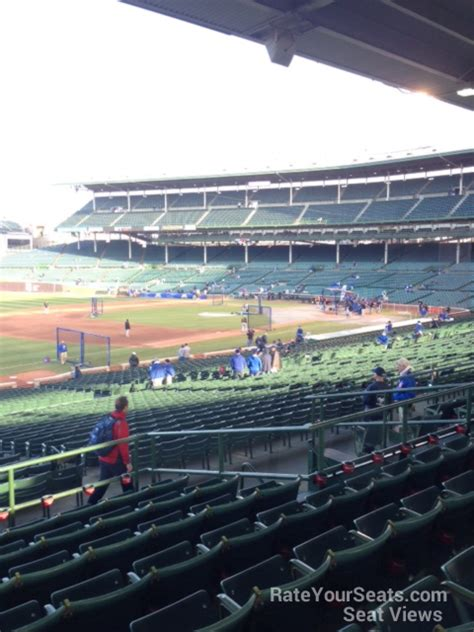 wrigley field section  chicago cubs rateyourseatscom