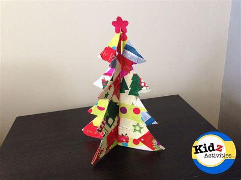 recycled paper christmas tree craft kidz activities