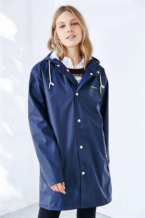 Navy Blue Rain Coat | Han Coats