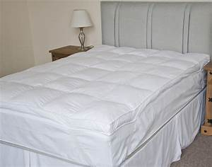 luxury extra thick duck feather mattress topper double With best thick mattress topper