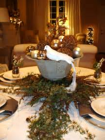 rustic brown wooden dining table decoration with garland and candles interior elegant holiday
