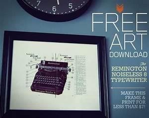 Free Art Download  The Remington Noiseless 8 Typewriter